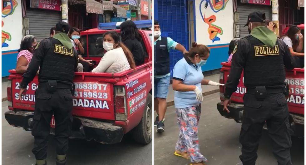 Barranca: decenas de mujeres fueron detenidas por salir a la calle en cuarentena. (Texto y video: Paul Reyes)