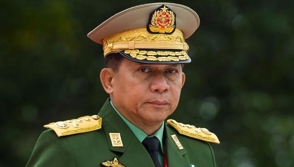 Los especialistas en Birmania consideran que Min Aung Hlaing no pretende abandonar la primera línea del poder cuando cumpla 65 años en julio, es decir, la edad de la jubilación. (Foto: Ye Aung THU / AFP).