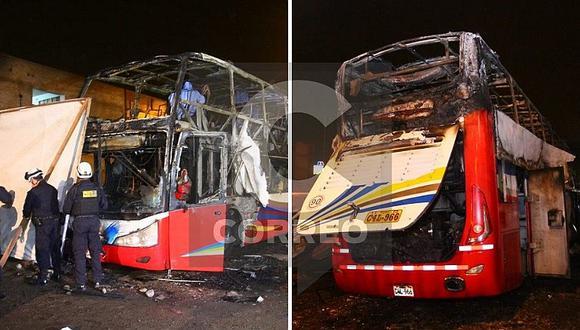 Empresa de transportes de bus interprovincial que se quemó en Fiori se pronuncia