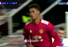 Marcus Rashford marcó el 1-1 en el duelo entre Manchester United y PSG en Champions (VIDEO)