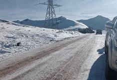 Carretera con hielo en Choclococha sigue causando más accidentes de tránsito en Huancavelica