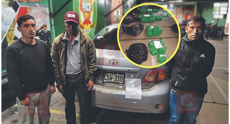 En colectivo Huancavelica - Huancayo, amigos llevaban 127 kilos de droga en 4 costales