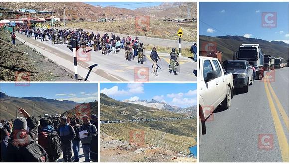 Mineros bloquearon por varias horas la Carretera Central