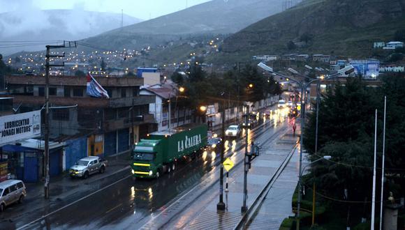 Lluvia y neblina caen sobre Carretera Central en La Oroya y Ticlio