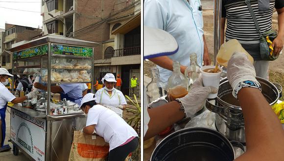 Emolienteros repartieron desayuno gratis a damnificados por aniego en SJL