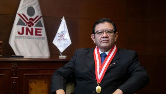 """Magistrado Jorge Luis Salas Arenas reiteró que no le """"parece razonable"""" que se utilice la palabra """"fraude"""" en la segunda vuelta de las Elecciones Generales 2021. (Foto: GEC)"""