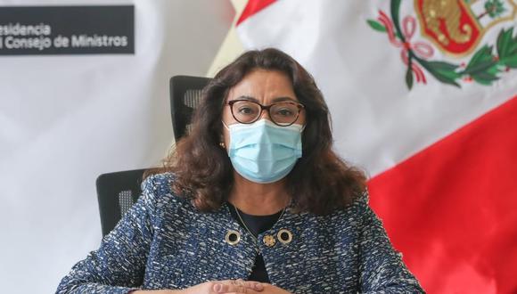 La presidenta de Consejos de Ministros, Violeta Bermúdez, anunció en conferencia de prensa la creación de una comisión para instalar un espacio de diálogo y agenda compartida en La Libertad. (Foto: PCM)