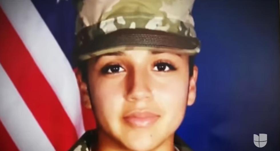 Vanessa Guillén, soldado de 20 años y natural de Houston, fue vista por última vez el 22 de abril en el estacionamiento del cuartel general del Escuadrón de Ingenieros Regionales en Fort Hood. (Captura de video).
