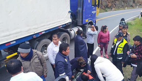 Patrullero que iba a socorrer a heridos de vuelco sufre accidente en Cusco