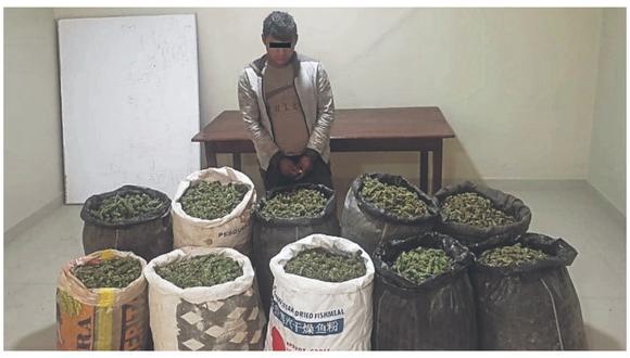 Ilegal mercadería tenía como destino la ciudad de Trujillo. El intervenido fue conducido a la dependencia policial.