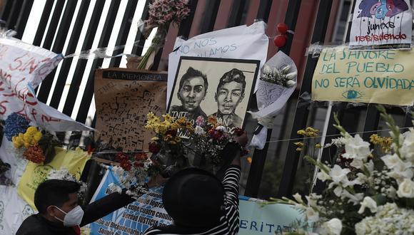 Jack Pintado y Inti Sotelo, murieron el 14 de noviembre durante movilizaciones en contra del Gobierno de Manuel Merino. Mientras, Jorge Muñoz Jiménez, falleció el pasado 3 de diciembre, durante la movilización que exigió la derogatoria de la Ley de Promoción Agraria. (Foto: César Campos/GEC)