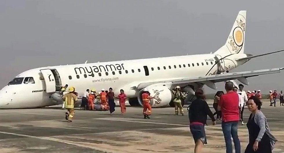 Un avión aterriza sin las ruedas delanteras y no tuvo víctimas que lamentar (VIDEO)