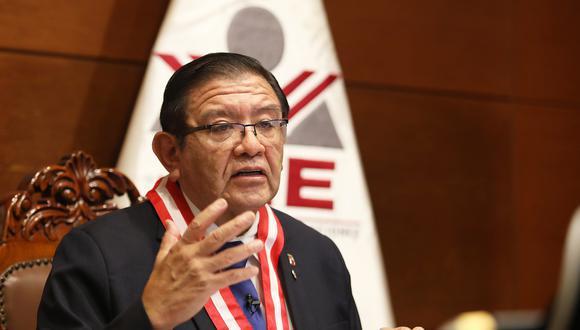 Jorge Salas Arenas se pronunció sobre marcha atrás del JNE en ampliación del plazo para presentar solicitudes de nulidad de mesas de sufragio. (Foto: JNE)