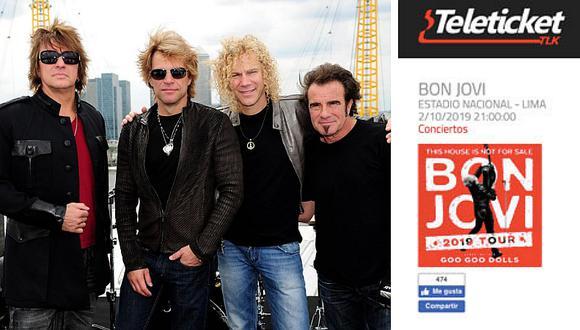 Bon Jovi regresaría al Perú luego de 9 años de ausencia junto con Goo Goo Dolls