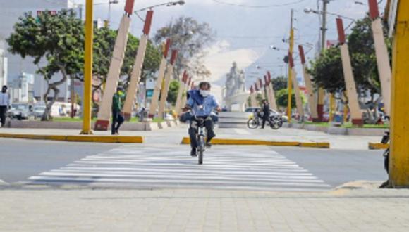 Chimbote: alistan 14 kilómetros de ciclovía para prevenir COVID-19 y reducir contaminación. (Foto: Andina)