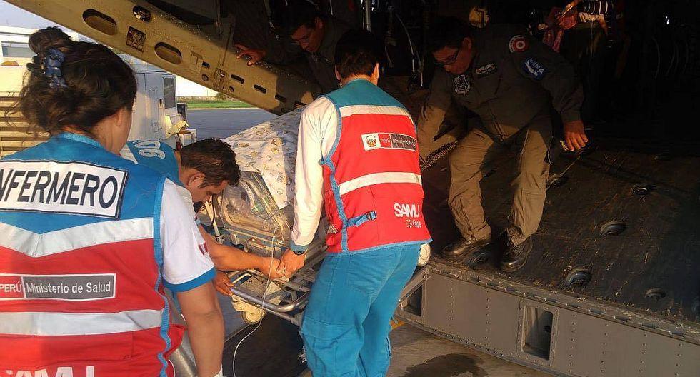 SAMU, SIS y FAP trasladan vía aérea a pacientes de zonas afectadas por lluvias