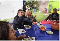 A ritmo de santiago, Ciro Gálvez realiza desayuno electoral en su vivienda de Pilcomayo en Huancayo (VIDEO)