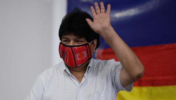 El expresidente boliviano Evo Morales realiza una conferencia de prensa y recorrido por el centro de campaña, en el día de las elecciones presidenciales en Bolivia, hoy en Buenos Aires (Argentina). (Foto: EFE/Juan Ignacio Roncoroni)