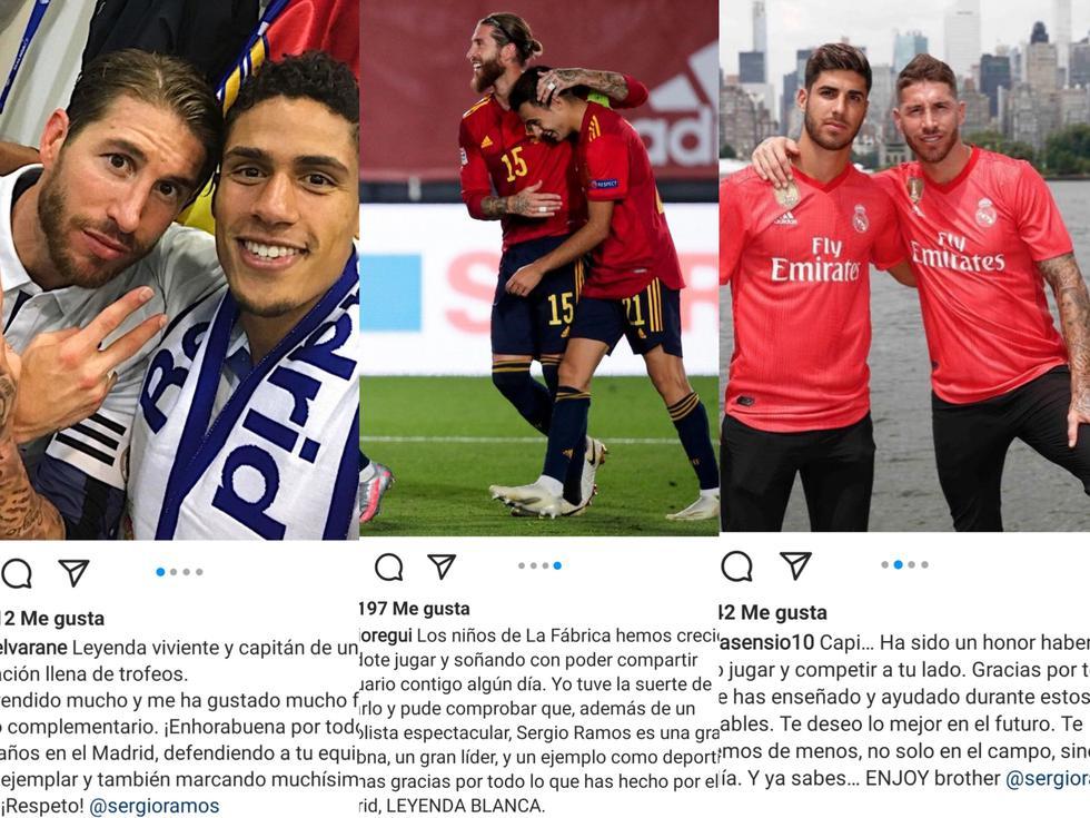 Jugadores se despidieron de Sergio Ramos tras su salida del Real Madrid. (Foto: captura de pantalla)