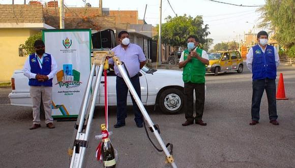 Inicia obra de alcantarillado en la avenida Jorge Chávez en La Tinguiña