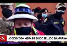 Guido Bellido: Lanzaron botella y gritaron contra el premier durante su visita a Apurímac (VIDEO)