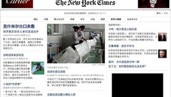"China: Bloquean web del ""New York Times"" por revelar patrimonio de primer ministro"