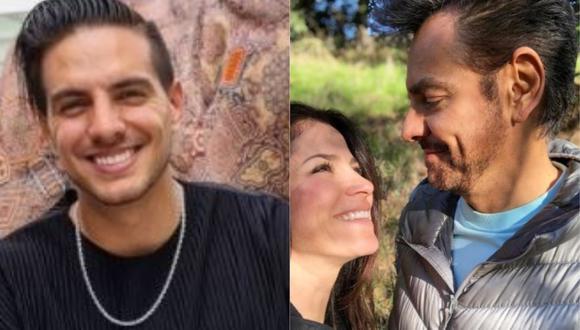 Vadhir Derbez y su reacción al ser consultado sobre la supuesta separación de Eugenio y Alessandra Rosaldo. (Foto: @vadhird/@ederbez)