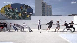 El juego del calamar: Youtuber surcoreano pone a prueba la estrategia de la cuerda