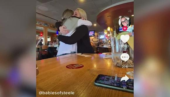 Esta usuaria de TikTok regala cientos de dólares a camarero que no recibía nada por ser LGTB+ (Foto: Babiesofsteele)