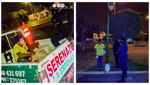 Es sorprendido por agentes de seguridad ciudadana y conducido a la comisaría del sector Bellavista. (Foto: Municipalidad Distrital de La Esperanza)