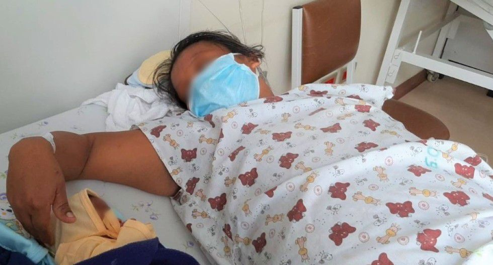 San Martín: Madre alumbra a bebé cuando se encontraba cumpliendo cuarentena preventiva en albergue de Tarapoto. (Foto: Andina)
