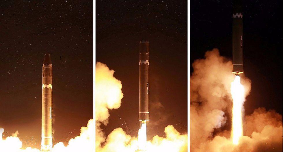 Corea del Norte muestra al mundo su nuevo misil balístico intercontinental (VIDEO)
