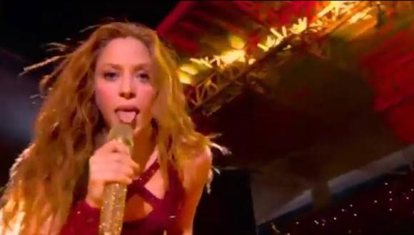 El lengüetazo de Shakira que se volvió viral en el Super Bowl