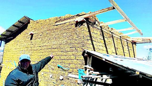 Fuertes vientos causan la  muerte de un anciano  y dejan herida a una pobladora