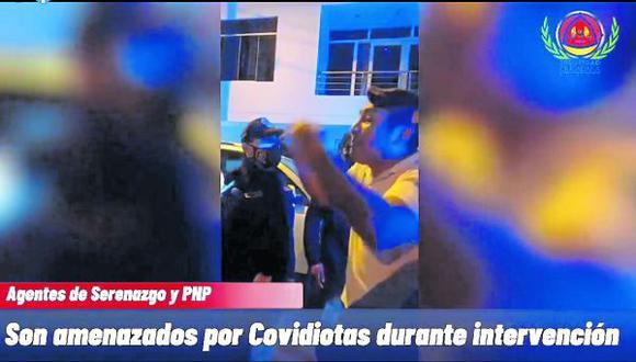 """""""Sujetos participaban de reunión social en toque de queda y dijeron ser parientes de jefe policial."""