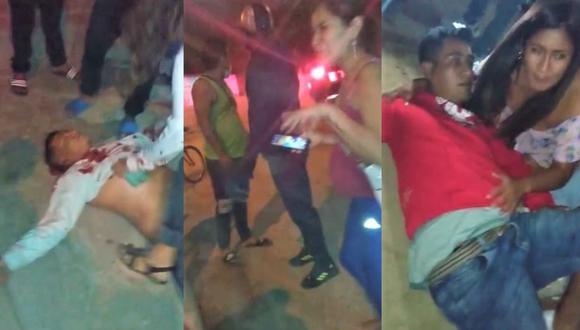 Los delincuentes llegaron al local en un automóvil color amarillo, ingresaron de manera violenta y empezaron a realizar disparos. Uno de los heridos es el policía Antony Ruesta Coro.