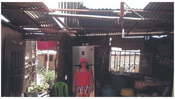 Fuertes vientos en el distrito de Bellavista deja 27 damnificados