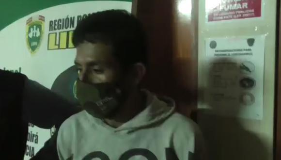 Juan Cabeza, 'Rayo', quien robaba celulares, fue detenido en el Rímac.