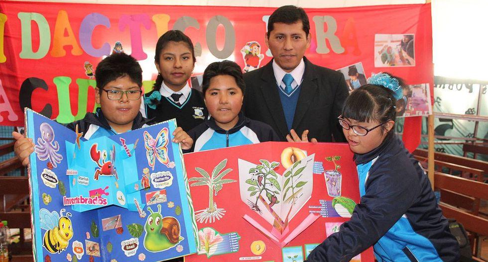 Arequipa: Estudiantes elaboran material didáctico para sus compañeros con discapacidad