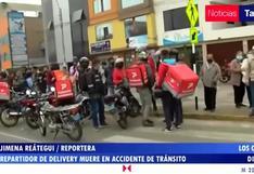 Repartidor de delivery murió tras ser atropellado por camioneta en la av. Izaguirre, en Los Olivos