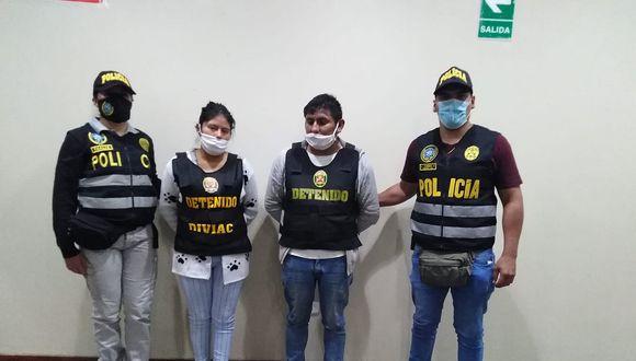 PNP capturó a dos presuntos narcotraficantes con 47 kilos de cocaína