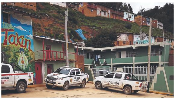 El apacible distrito altoandino se vio perturbado ayer con el arresto de cinco integrantes de institución tutelar.
