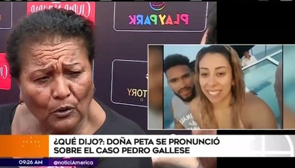 "'Doña Peta' sobre infidelidad de Pedro Gallese: ""Se le chispoteó"". (Foto: Captura de video)"