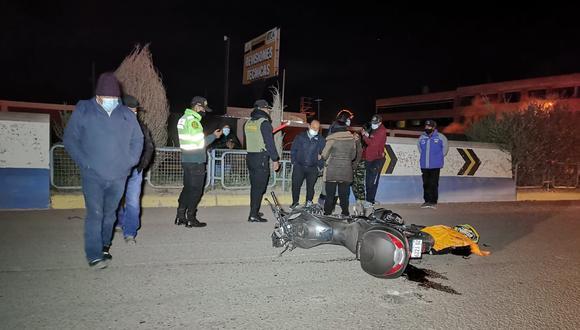Este trágico accidente ocurrió la noche del último domingo. (Foto: Feliciano Gutiérrez)