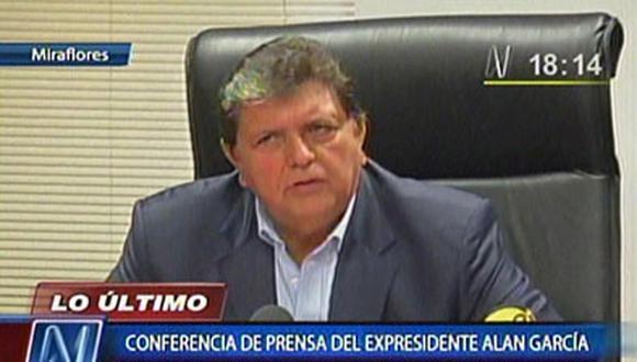 """Alan García sustenta ingresos: """"He ganado S/. 3 millones 352 mil"""""""