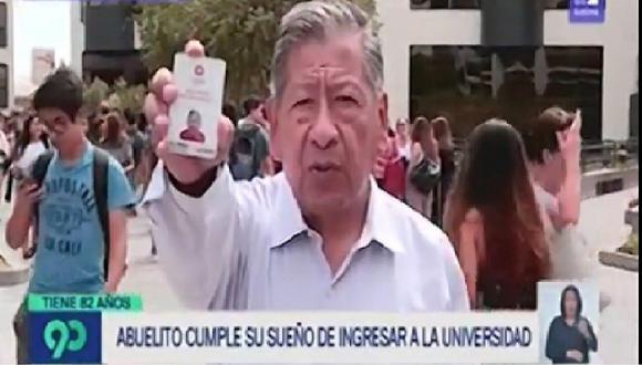 """Hombre de 82 años cumple su sueño al ingresar a la universidad: """"Sí se puede"""" (VIDEO)"""