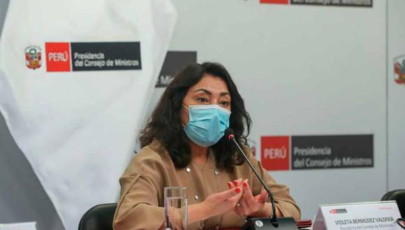 Violeta Bermúdez se refirió a las dosis entregadas por el laboratorio Sinopharm a la embajada de China en Lima. (Foto: PCM)