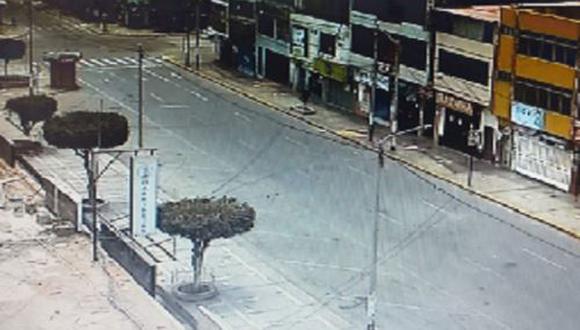 Áncash: calles de Chimbote lucieron totalmente vacías en su último domingo de inmovilización social (Foto: Andina)