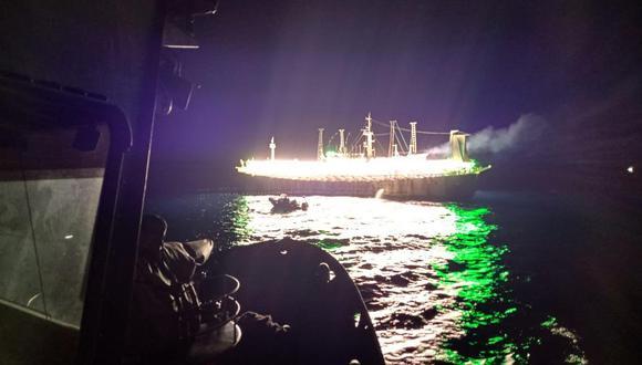 La flota extranjera continúa fuera de las 200 millas peruanas. (Marina de Guerra)
