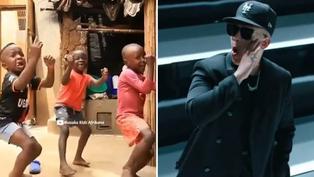 Niños africanos enternecen redes sociales con coreografía de canción 'Problema'